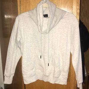 Cream/oatmeal color funnel neck sweatshirt